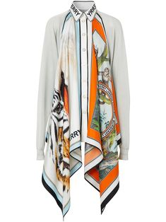 Burberry for Women - Farfetch Moda Kids, Scarf Top, African Print Fashion, How To Wear Scarves, Clothing Hacks, Looks Style, Mode Style, Scarf Styles, Diy Clothes