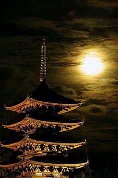 pagoda in Nara, Japan Nara, Kyoto, Beautiful World, Beautiful Places, Monte Fuji, All About Japan, Japanese Temple, Historical Architecture, Japanese Culture