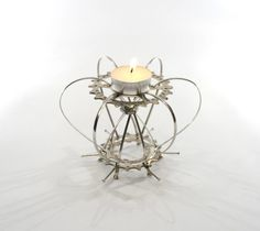 Tealight  T4  Made from bicycle parts by BespokeSpokes on Etsy