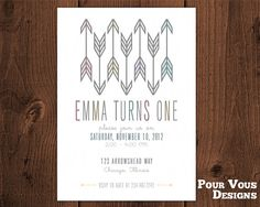 Printable Arrows Boho Birthday Invitation by PourVousDesigns, $15.00