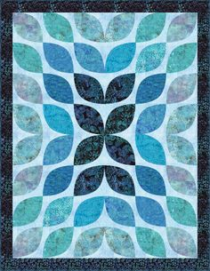 FREE PATTERN - Tonga Neptune-Beneath The Waves Dimensions: 54.5″ x 70.5″ Quilt by Heidi Pridemore