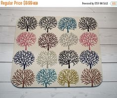 SALE  trees Mouse Pad mousepad / Mat  Rectangle or round by Laa766  chic / cute / preppy / computer, desk accessories / cubical, office, home decor / co-worker, student gift / patterned design / match with coasters, wrist rests / computers and peripherals / feminine touches for the office / desk decor