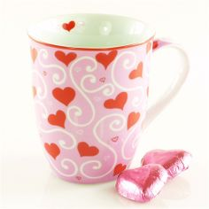 Love Hearts Valentines Day Love Mug Gift For Women From Girly Gifts