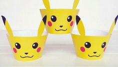 Pokemon Pikachu Cupcake Wrappers Party Decor Birthday Boy