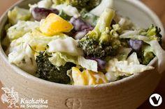 BROKOLICOVÝ SALÁT S FAZOLEMI Potato Salad, Mashed Potatoes, Salads, Cooking, Ethnic Recipes, Food, Whipped Potatoes, Kitchen, Smash Potatoes