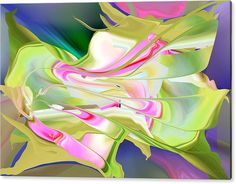 Rd Erickson Acrylic Print featuring the digital art Flower Song Abstract by rd Erickson