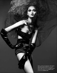 Dangerously Dark Fashion - Kevin Sinclair Photographs Beauty Bruna Tenório for Vestal Magazine (GALLERY)