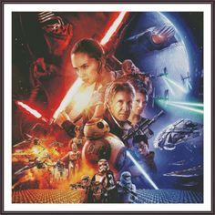 Star Wars Counted Cross Stitch Pattern  Large by ZAnnaCrossStitch