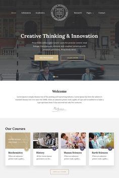 Unisco - Education, School, College College Website, University Website, Food Web Design, Simple Web Design, One Page Website, Website Design Inspiration, Ui Inspiration, Design Ideas, Educational Websites