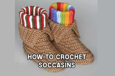 How To Crochet Soccasins                                                                                                                                                                                 More