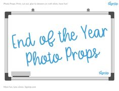 Are you the room parent or host helping to plan the End of the Year class party for your child's classroom or school? SignUp is your go-to party activity destination with free printables and ideas galore! Get started planning everything you need for your End Of School Year, End Of Year, Party Activities, Classroom Activities, Craft Stick Crafts, Fun Crafts, Photobooth Props Printable, School Parties, Photo Booth Props