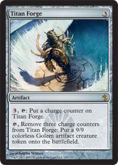 Titan-Forge-x4-Magic-the-Gathering-4x-Mirrodin-Besieged-mtg-card-lot-rare