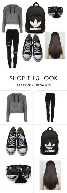 """""""made by my ugly cousin (8)"""" by imana2013 ❤ liked on Polyvore featuring Topshop, Converse and adidas Originals"""