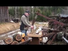 Home-made wood splitter. Ingmars klyv II