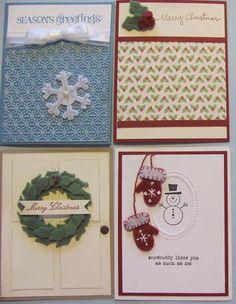 using SU winter wishes stitched felt