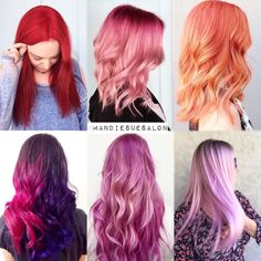 """F E B R U A R Y ❤️ it's all about COLOR!!! The stylists here know how to get the prettiest pinks/reds/ corals/ purples! This month we are doing a…"""