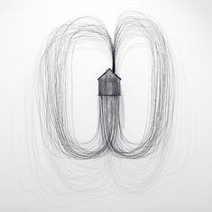 drawing with wire by david moreno