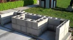 cinder block outdoor fireplace plans - Google Search