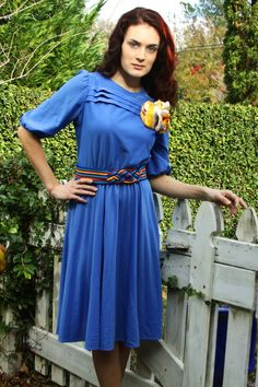Vintage Dress  1970s POLKA DOT PERIWINKLE by runaroundsuevintage, $45.00