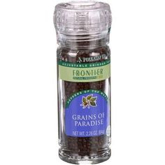 Frontier Herb Gourmet Grains of Paradise Seed - Ivory Coast - Grinder Bottle - 2.26 oz - Case of 6