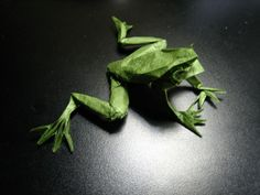 Origami Frog Folded From An Uncut Square. Designed by Brian Chan September 2005.