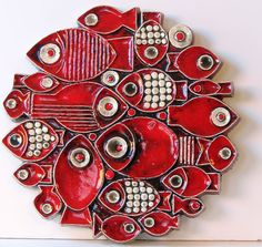 Britt-Louise Sundell ceramic fish plaque for Gustavsberg.
