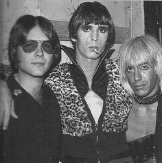 Ron Asheton,James Williamson,Iggy Pop/abt.1973  Danny Fields photo
