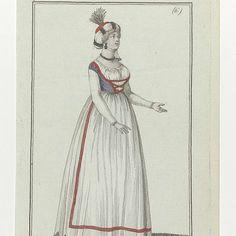 Journal des Dames et des Modes, Costume Parisien, 11 février 1798, (6) : Turban à la Gulnare..., Anonymous, 1798 - Rijksmuseum
