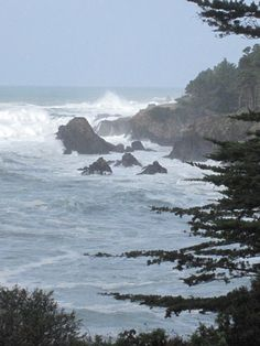 I stayed at an Inn on the Mendocino coast in CA and sat on these rocks for hours.
