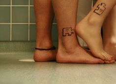 Chase and I's tattoos were getting. Except the insides of the puzzle peices will have the batman symbol in it <3