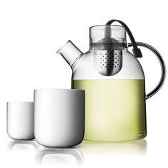 Kettle Teapot & 2 Thermo Cups by Jonas Bjerre-Poulsen & Kasper Ronn