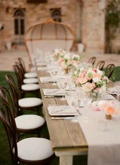 Rustic flower set up