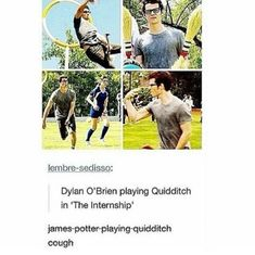 Dylan O'brian as James Potter