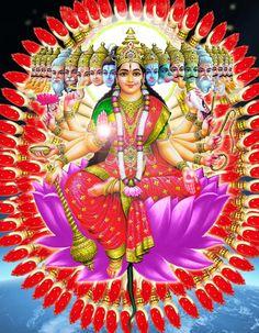 adi shakti Indian Goddess, Mother Goddess, Goddess Lakshmi, Akka Mahadevi, Durga Ji, Gayatri Devi, Lord Murugan Wallpapers, Kali Hindu, Lakshmi Images