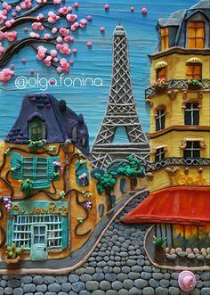 Plasticine art by Olga Fonina #plasticine #plastilina #clay #plasticineart #artwork #modelingclay #illustration #пластилин