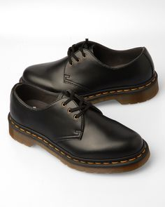 Doc Martens wised up and now sell vegan models of the popular 1460 8-Eye boot, and the 3-Eye Gibson shoe.