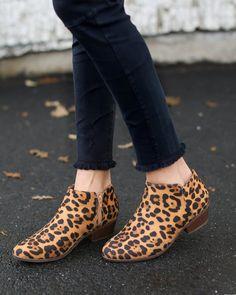 Dewitt Leopard Print Ankle Booties
