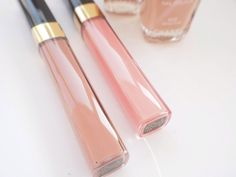 Les Beiges Gloss by chanel in beige star. right one