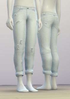 Rusty Nail: SP03 Distressed jeans • Sims 4 Downloads