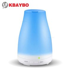 KBAYBO Essential Oil Diffuser, 120ml Aroma Essential Oil Cool Mist Humidifier, 7 Color LED Lights Changing for Home Office Baby