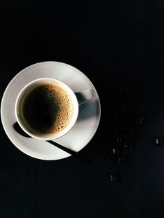 (Open) Nero: I took a long sip of my coffee, sitting at a table in the cafeteria. You bumped into the table and I looked up from my coffee. But First Coffee, I Love Coffee, Black Coffee, Coffee Break, Morning Coffee, Coffee Cafe, Coffee Drinks, Coffee Shops, Coffee Menu