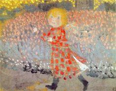 Momina - Maurice Denis, La petite fille à la robe rouge, vers 1899