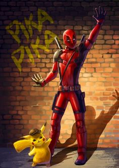 75140953 Detective Pikachu & Deadpool, Pokemon