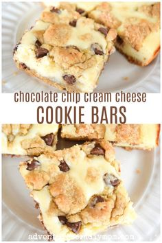 Chocolate Chip Cream Cheese Cookie Bars Adventures of a DIY Mom - Cheese Chips - Ideas of Cheese Chips Deserts With Cream Cheese, Cream Cheese Bars, Cream Cheese Cookies, Chocolate Cream Cheese, Cream Cheese Recipes, Easy Cream Cheese Desserts, Cream Cheese Snacks, Cream Cheese Brownies, Cream Cheeses
