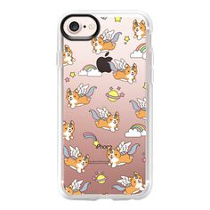 Unicorn Corgi - iPhone 7 Case And Cover ($40) ❤ liked on Polyvore featuring accessories, tech accessories, phone cases, iphone case, apple iphone case, clear iphone case, iphone cover case, iphone cases and unicorn iphone case