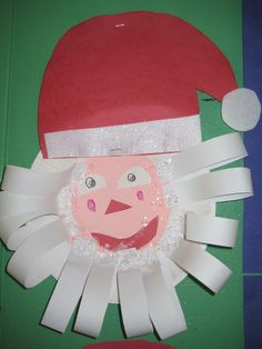Santa - such a cute paper plate craft for christmas