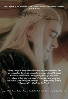 Thranduil speaks to Êlenuil about loss and life before the Thranduil's last Battles in Middle-Earth (New Chapter XXV, Book II; Old Book III, Chapter IV) #Thranduil. #FanFiction. #TKWRTrilogy.
