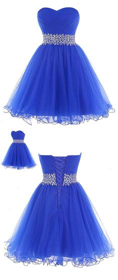 royal blue homecoming dress knee length homecoming dress short homecoming