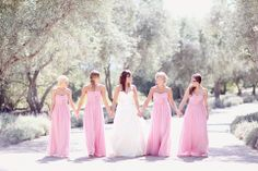 This is very cute and I really like the long bridesmaids dresses