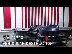 أعنف 10 مشاهد لتدمير سيارات المصارعين Vehicular Destruction - WWE Top 10